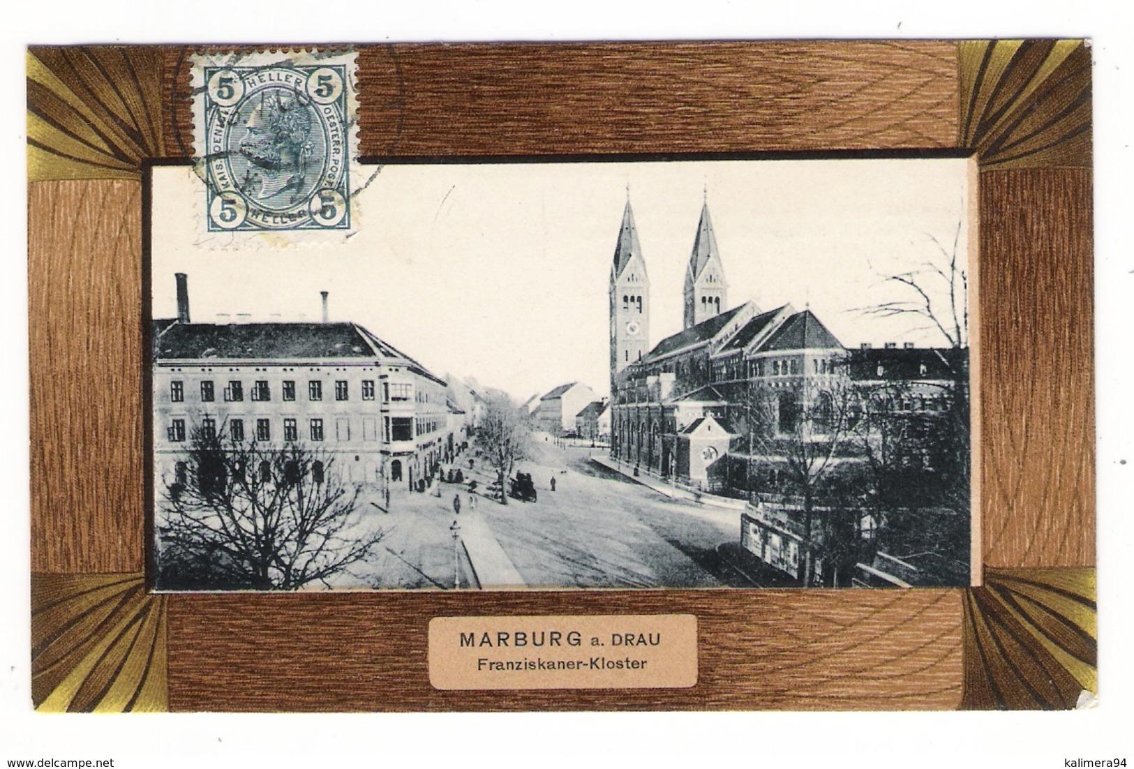 SLOVENIE  /  MARBURG - A. - DRAU  ( MARIBOR ) /  FRANZISKANER - KLOSTER  /  Edit.  Anton  SCHLAUER , Graz - Slovénie