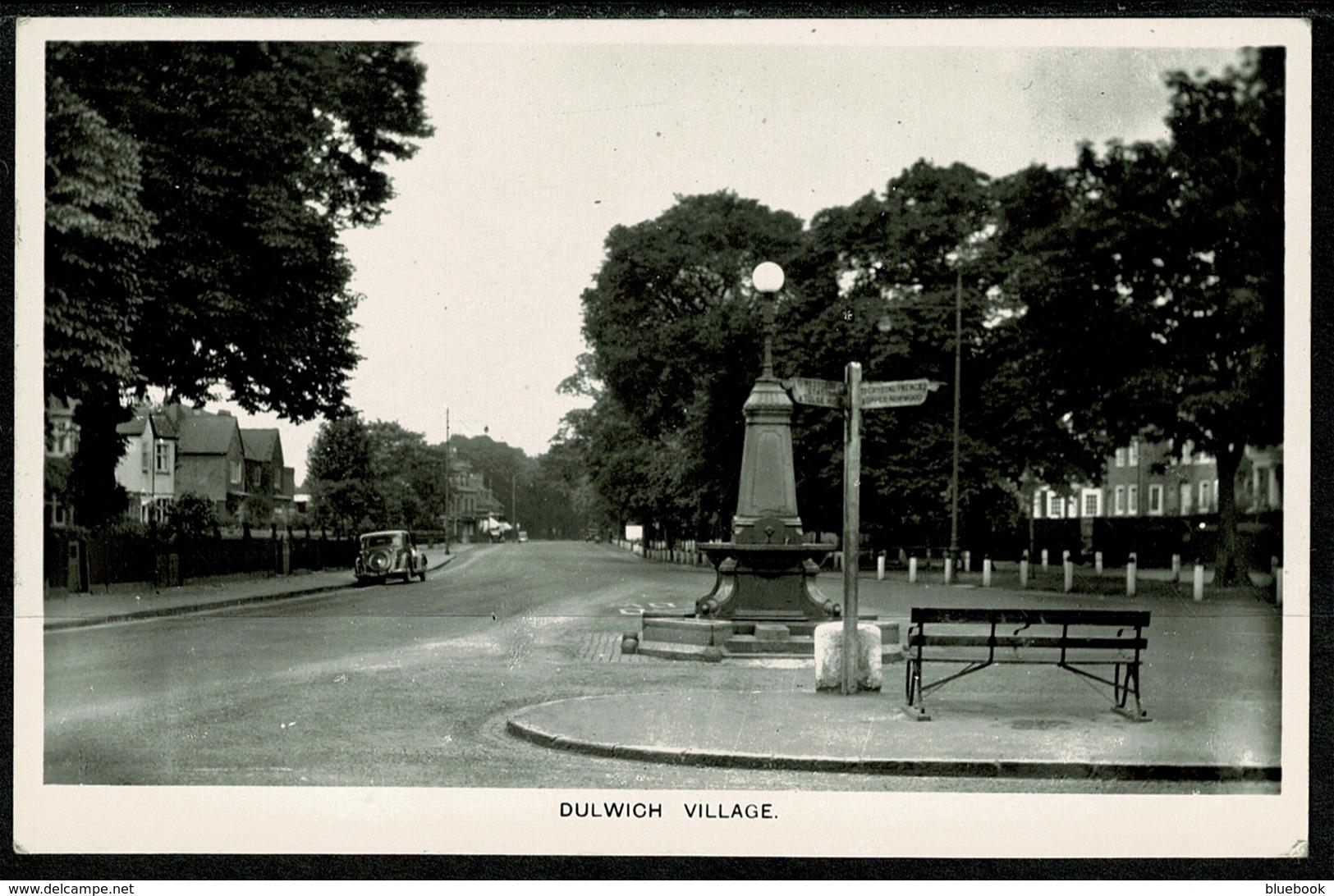 Ref 1247 - 1949 Real Photo Postcard - Dulwich Village & Finger Signpost - London - London Suburbs