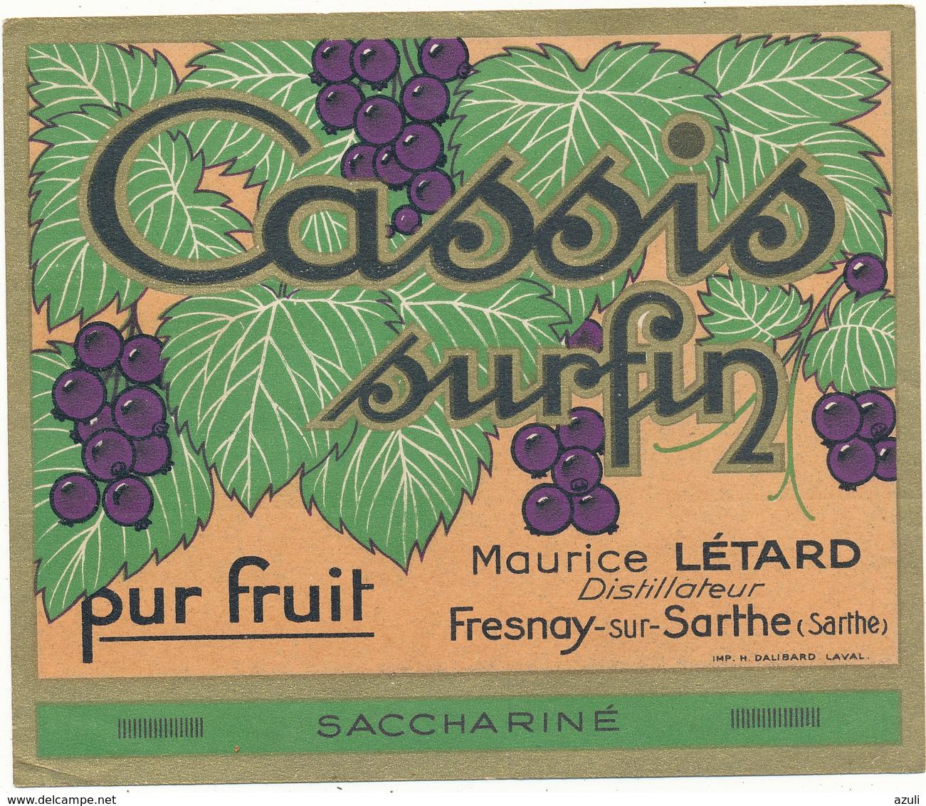 Etiquette - Cassis Surfin Létard - Fresnay Sur Sarthe - Other
