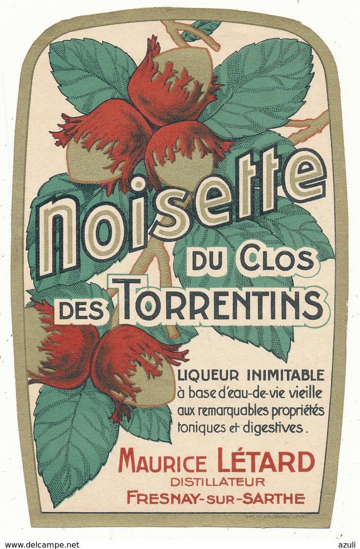 Etiquette - Liqueur De Noisette Létard - Fresnay Sur Sarthe - Other