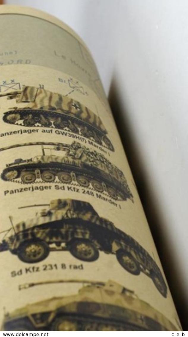 Poster Campaña De Normandía. Panzer. Sherman. Jeep. Francia Día D. 6 De Junio 1944. II Guerra Mundial. Alemania - Documenti