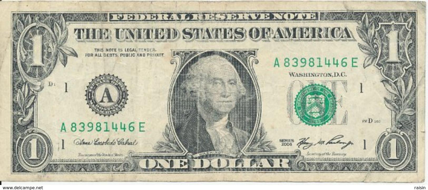 Billet 1 Dollar US état D'usage - Canada