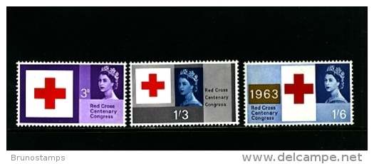 GREAT BRITAIN - 1963  RED CROSS  SET  MINT NH - Nuovi