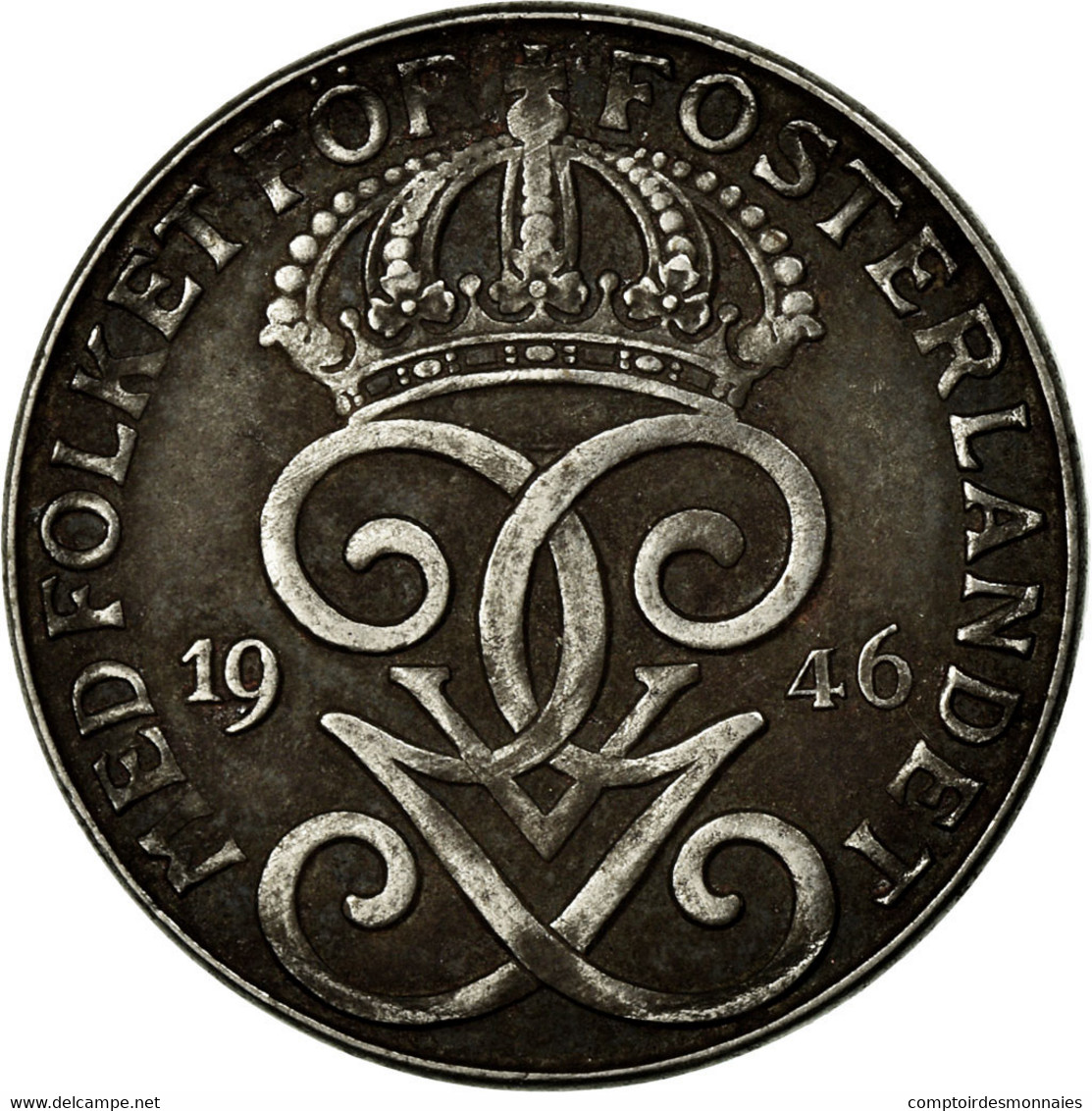 Monnaie, Suède, Gustaf V, 2 Öre, 1946, TB, Iron, KM:811 - Suède
