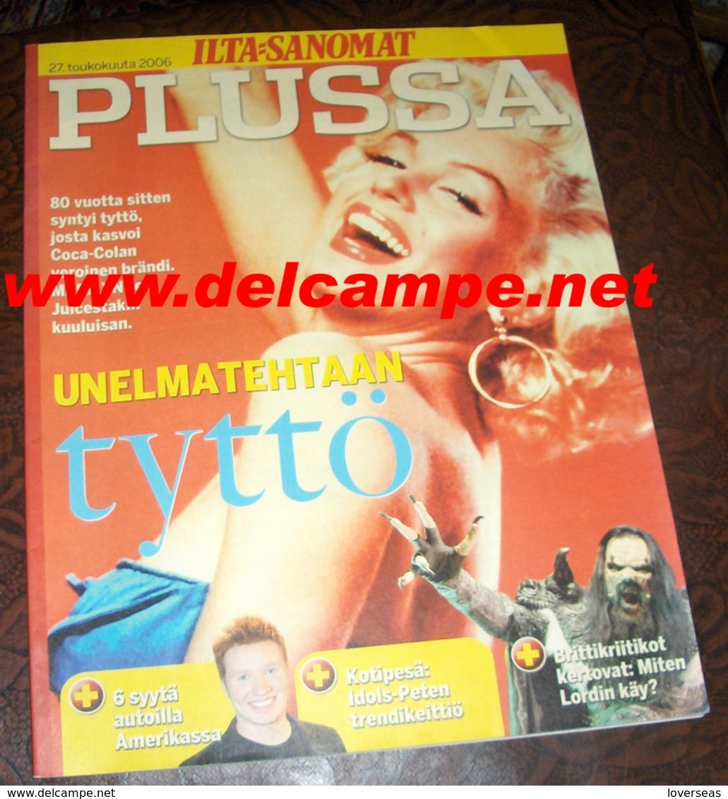 FINNISH Magazine Finland Marilyn MONROE - Livres, BD, Revues