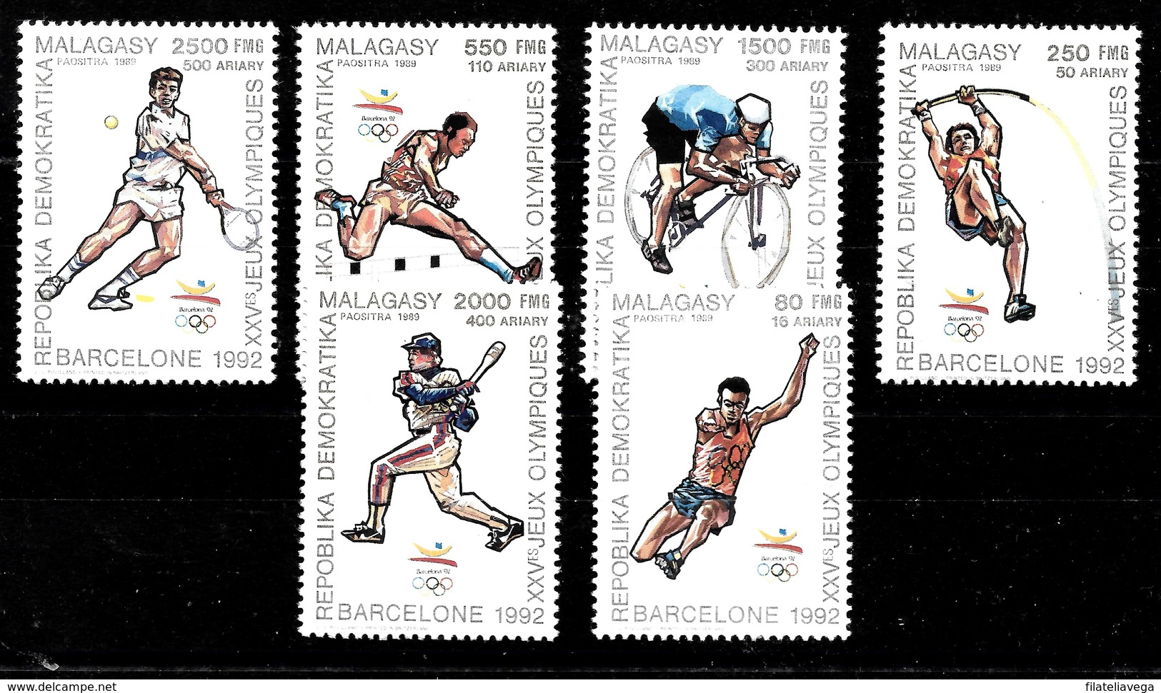 Serie De Madagascar Nº Yvert 947/52 **  DEPORTES (SPORTS) - Madagascar (1960-...)