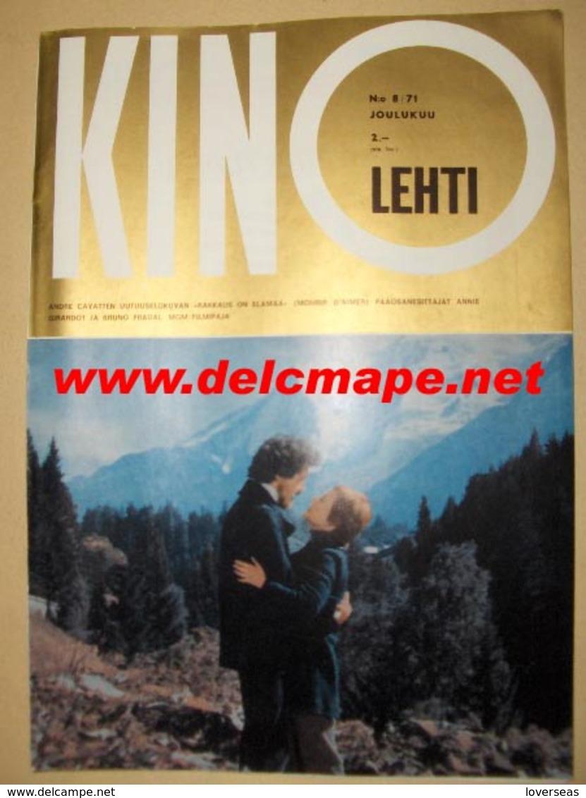 Revue Finlandaise 1971 Annie Girardot & Bruno Pradal Mourir D'aimer - Cinéma & Télévision