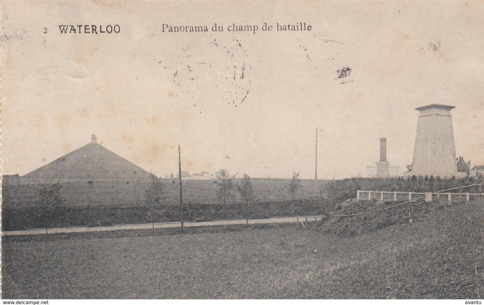 WATERLOO / PANORAMA DU CHAMP DE BATAILLE - Waterloo