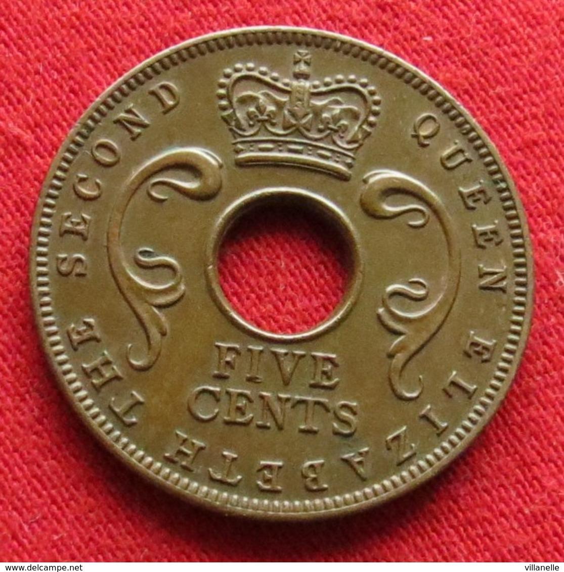 East Africa 5 Cents 1955  Africa Oriental Afrique Afrika Wºº - Monnaies