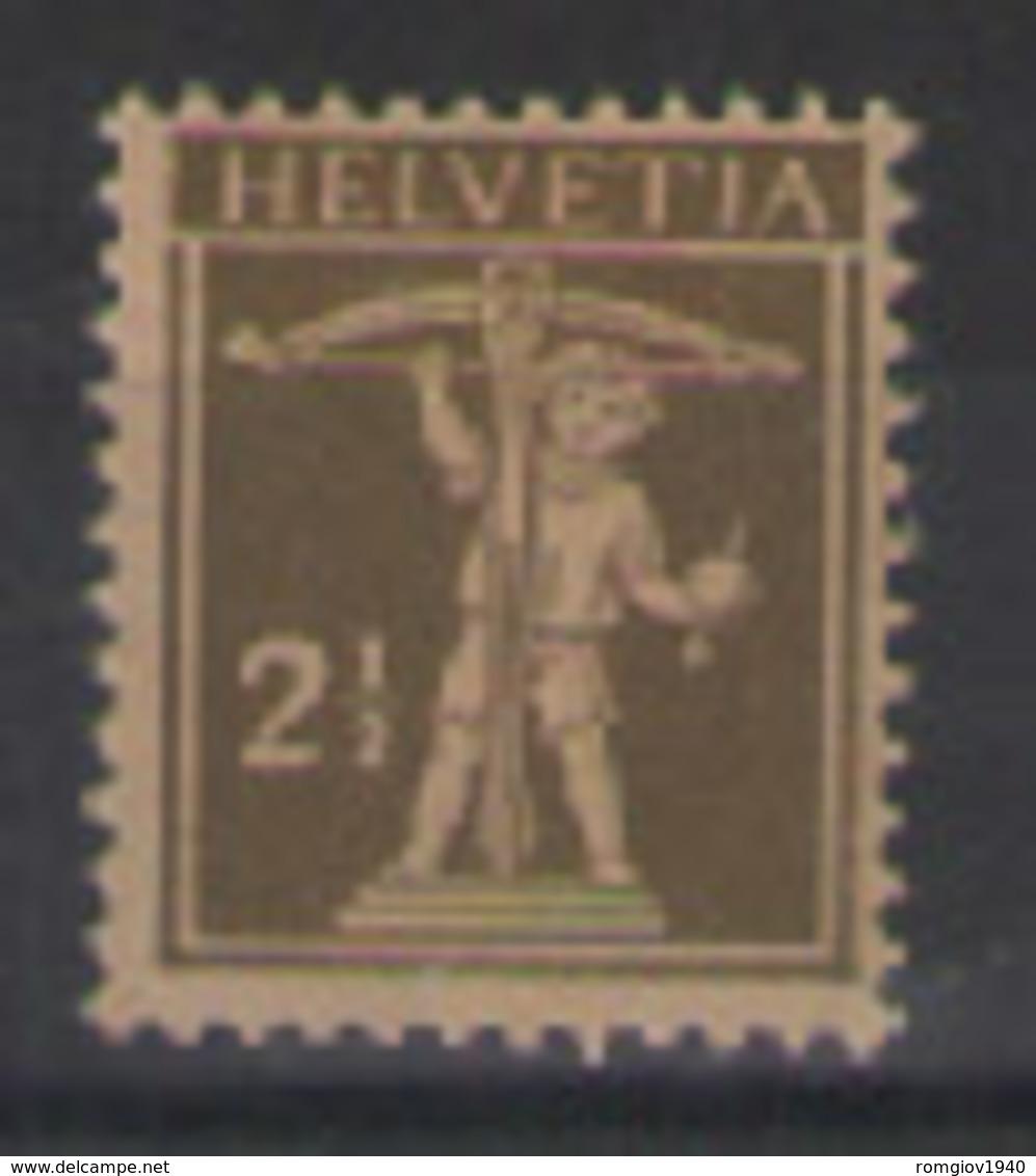 SVIZZERA  1916-22 WALTER TELL  UNIF. 157 MNH XF - Svizzera