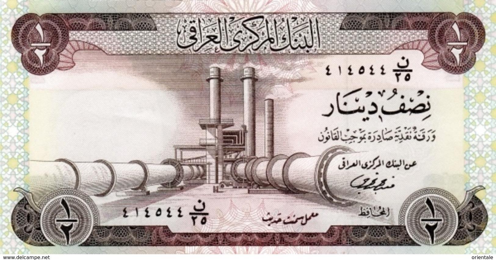 IRAQ P.  62 1/2 D 1971 UNC (s. 18) - Iraq