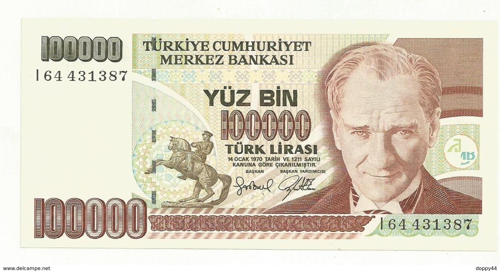 BILLET NEUF  TURQUIE   QUALITE SUPERBE - Turquie