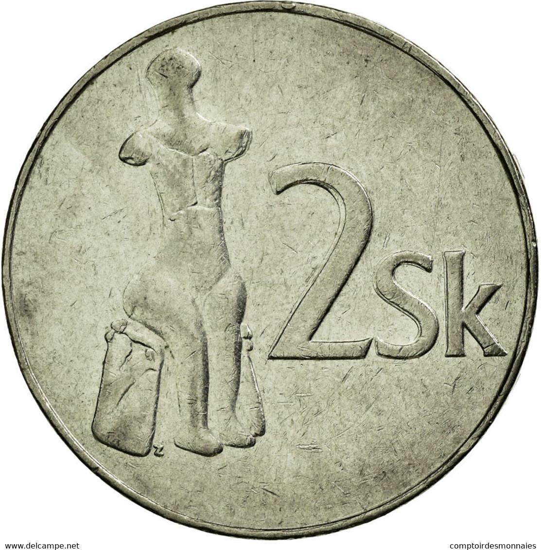 Monnaie, Slovaquie, 2 Koruna, 1993, TTB, Nickel Plated Steel, KM:13 - Slovaquie