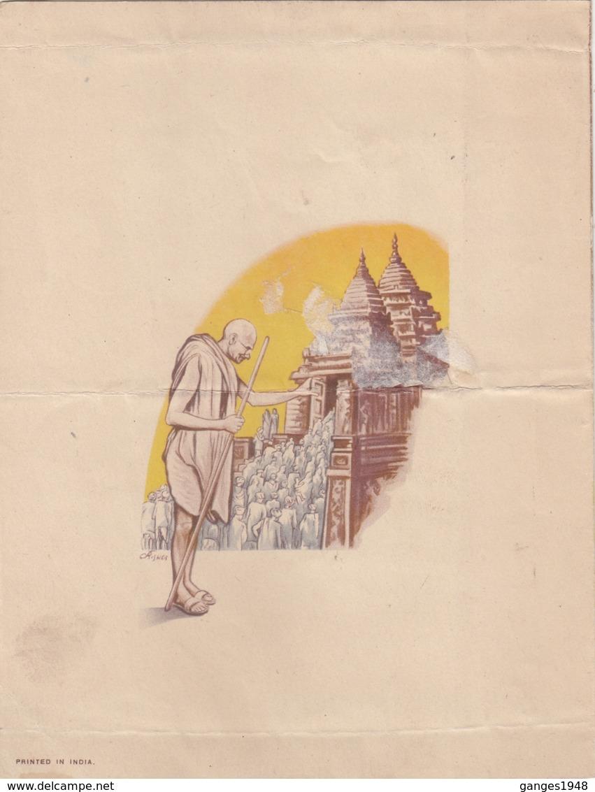 India  1948  Mahatma Gandhi  Mint  4v Set  On Brochure  Without Cancellation # 16227  D  Inde Indien - Mahatma Gandhi