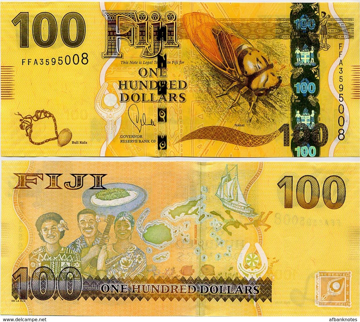 FIJI       100 Dollars       P-119a      ND (2013)       UNC - Figi