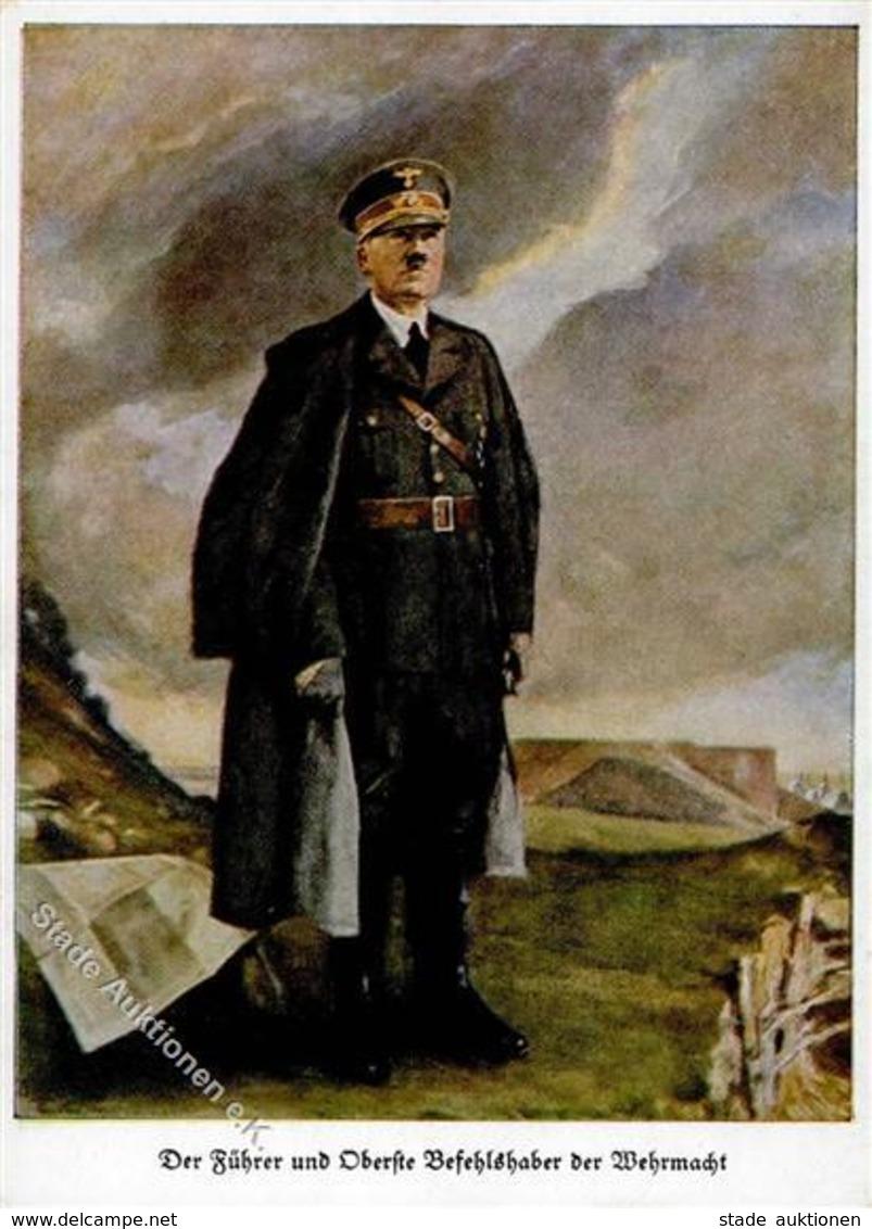 Hitler WK II Sing. Hommel, C. Künstlerkarte I- - War 1939-45