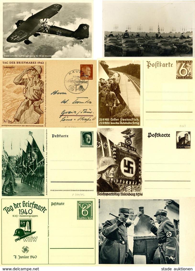 WK II Propaganda Hitler Usw. Partie Mit Circa 70 Ansichtskarten Dabei Circa 40 Ganzsachen I-II - War 1939-45