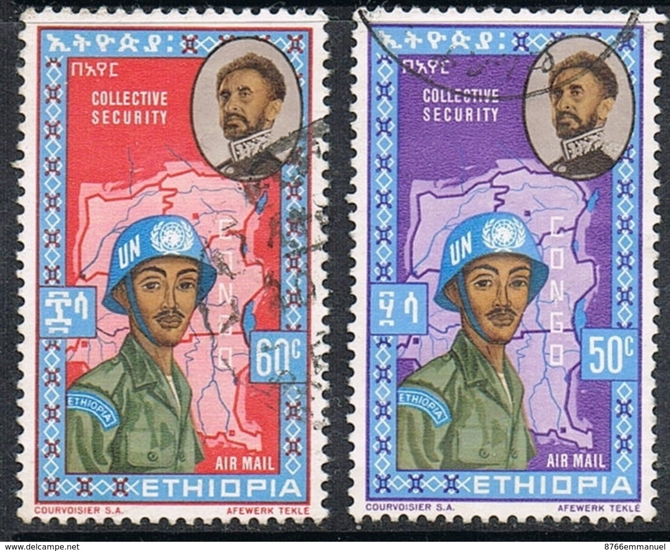 ETHIOPIE AERIEN N°69 ET 70 - Ethiopie