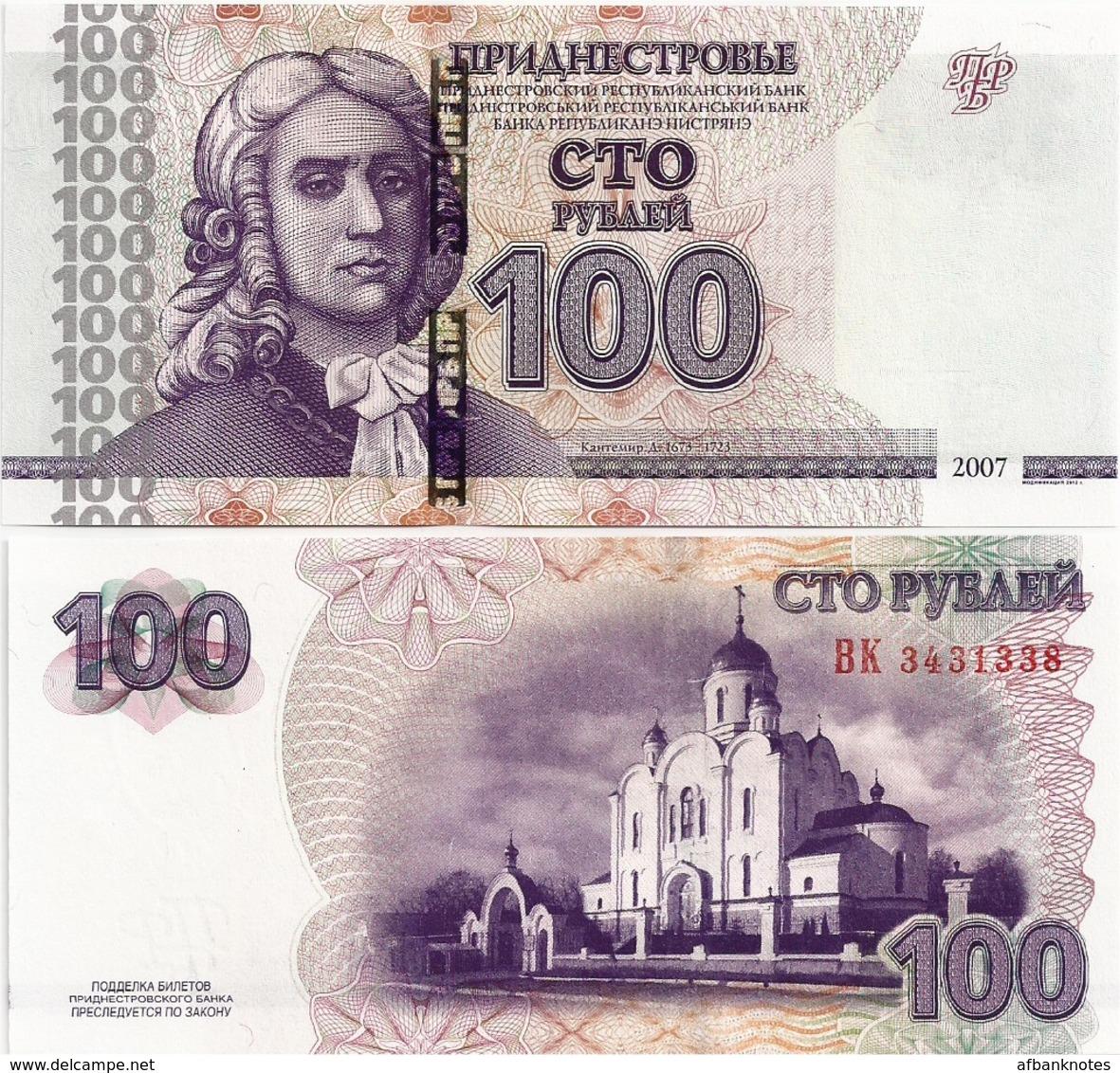 TRANSNISTRIA       100 Rublej       P-47b       2007 / 2012      UNC - Banknoten