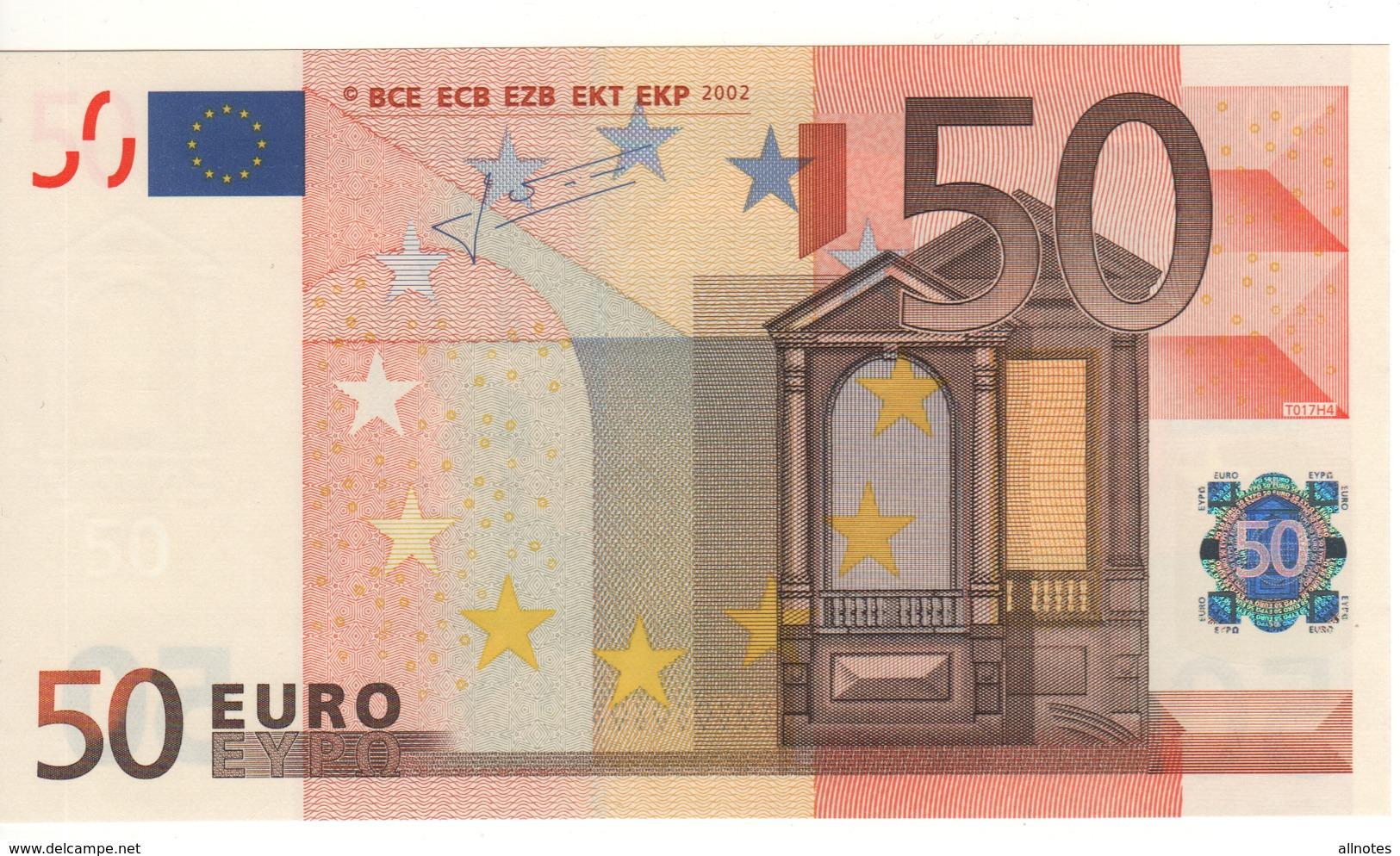 "50 EURO  ""Z""  BELGIO   Firma Trichet     T 017 H4     /   FDS   -   UNC - EURO"