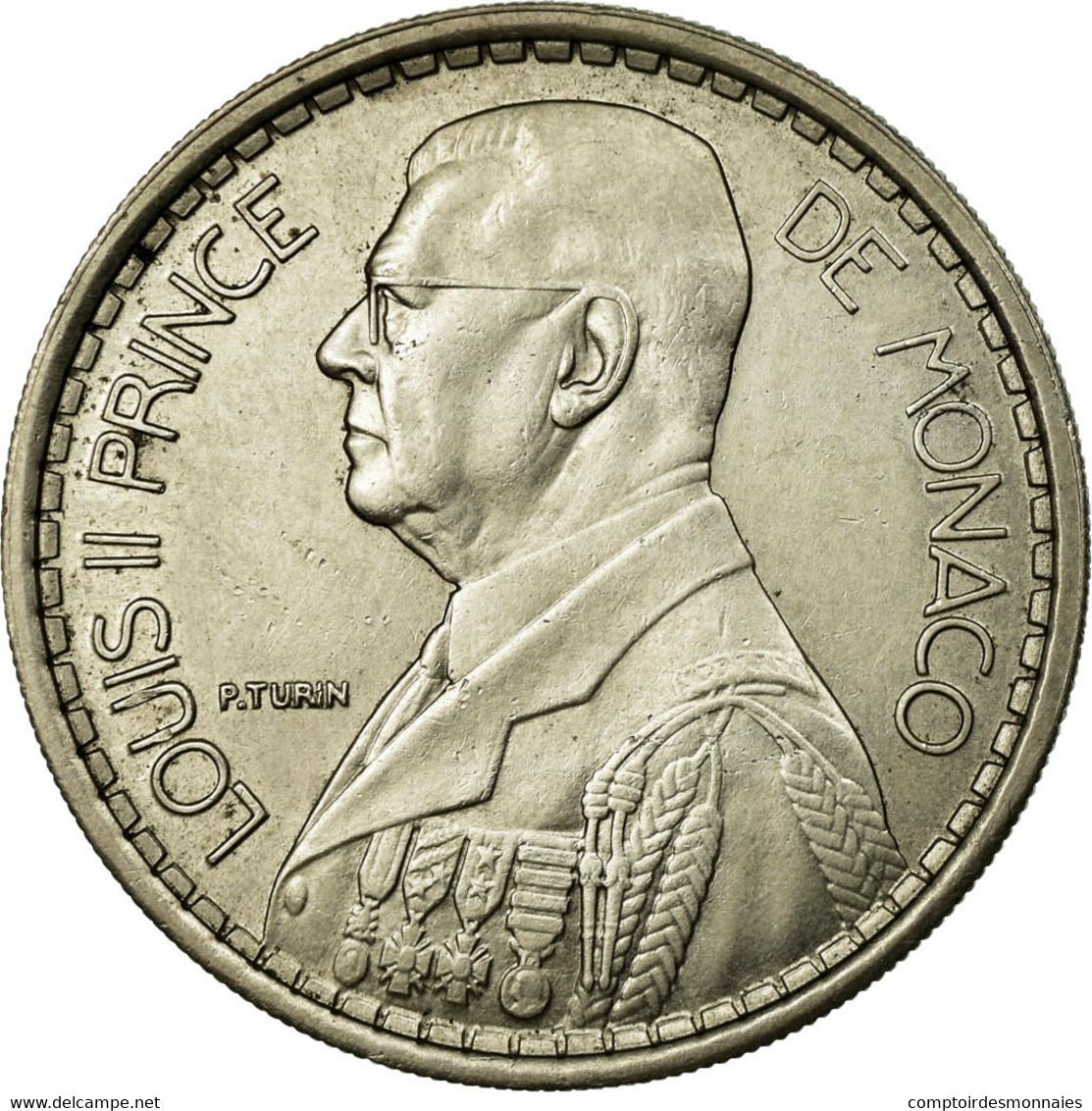 Monnaie, Monaco, Louis II, 20 Francs, Vingt, 1947, Poissy, SUP, Copper-nickel - Monaco