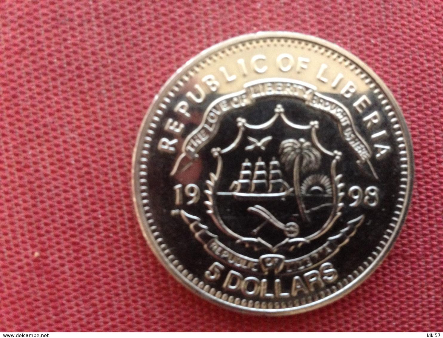 LIBERIA Monnaie Commémorative TITANIC 5 Dollars 1998 Superbe état - Liberia