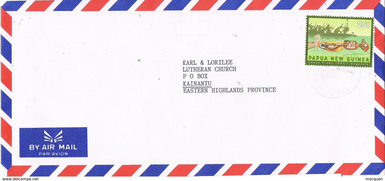 30905. Carta Aerea KAINANTU (Papua New Guinea) 1991 - Papouasie-Nouvelle-Guinée