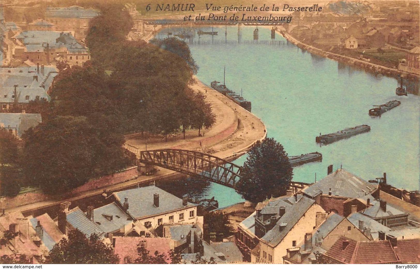 Namur Namen     Vue Générale De La Passerelle Et Du Pont De Luxembourg     X 5322 - Namur