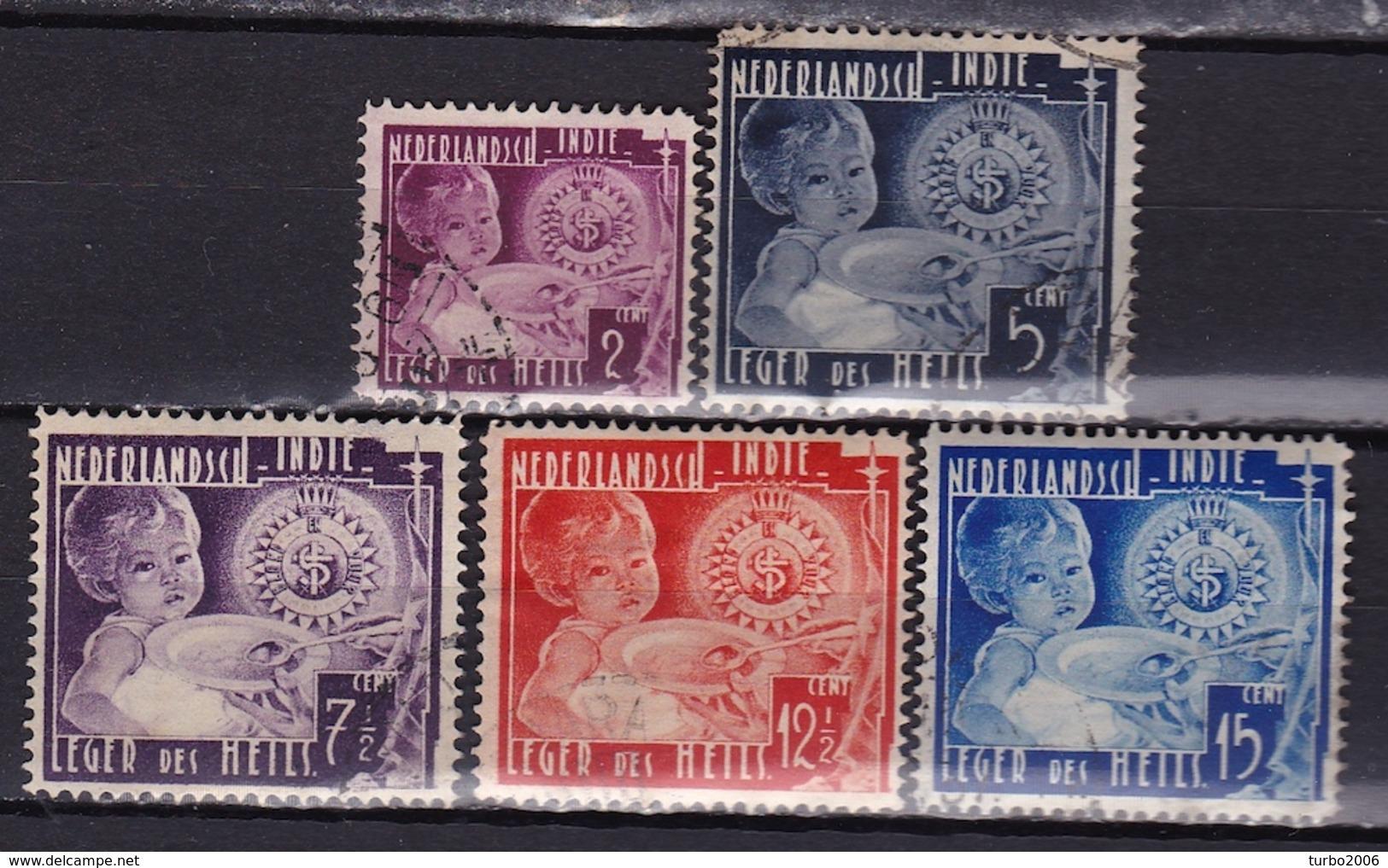 Ned. Indië: 1936 Leger Des Heils Gestempelde Serie NVPH 221 / 225 - Indes Néerlandaises