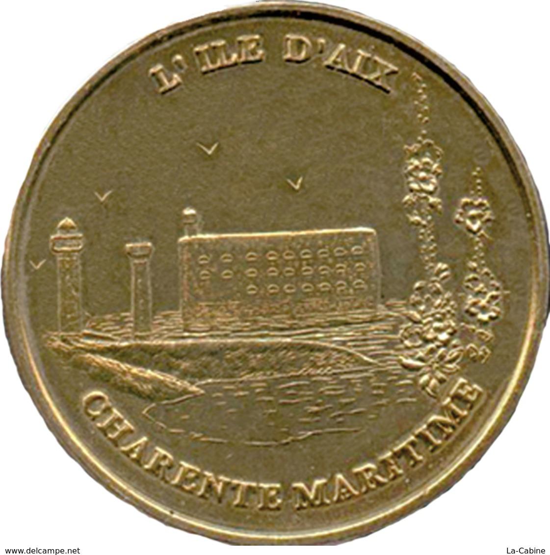 17 ÎLE D'AIX PHARE CHARENTE MARITIME MÉDAILLE MONNAIE DE PARIS 1998 JETONS TOURISTIQUE MEDALS TOKENS COINS - Monnaie De Paris