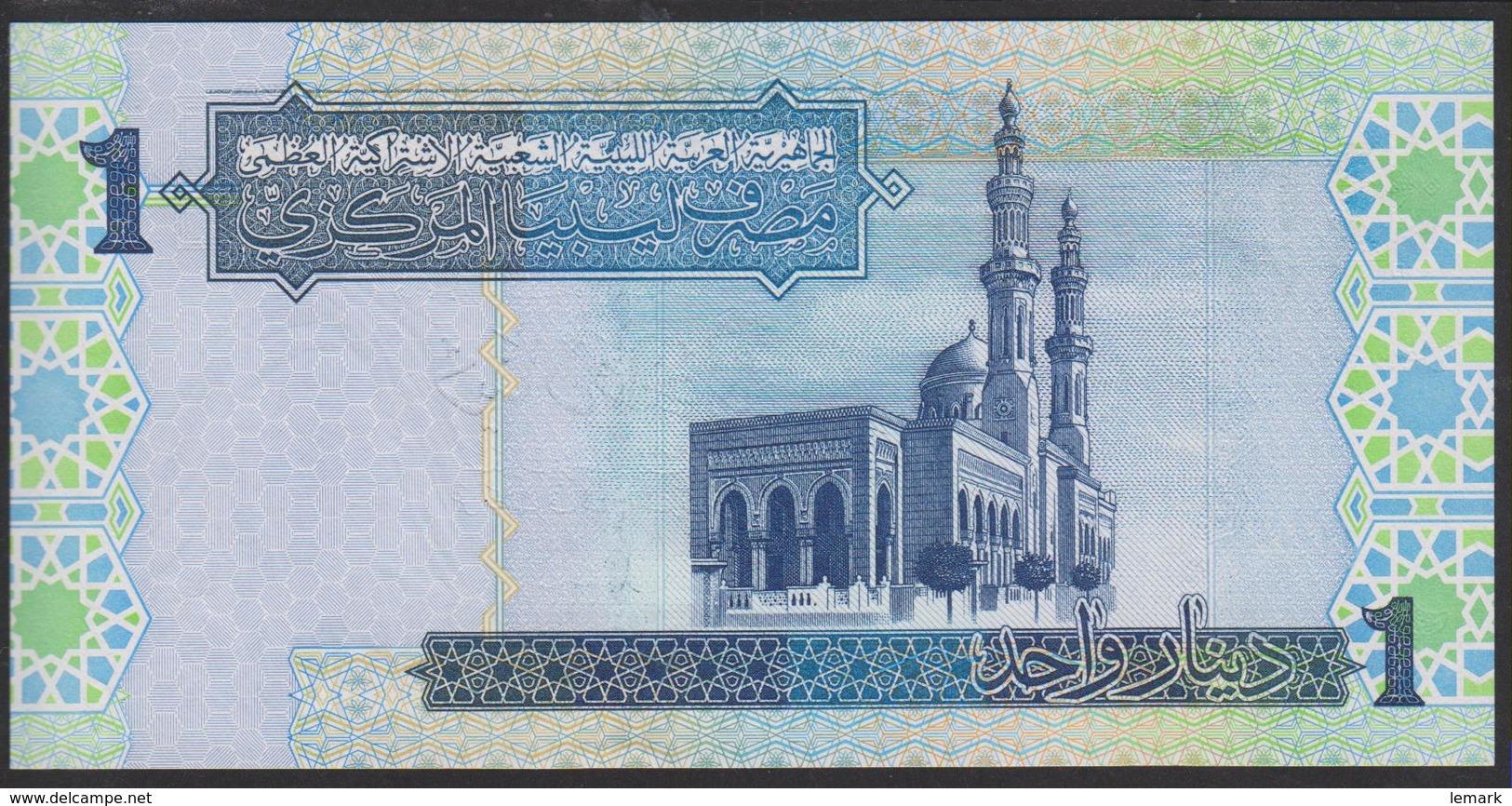 Libya 1 Dinar 2004 P68b UNC - Libye