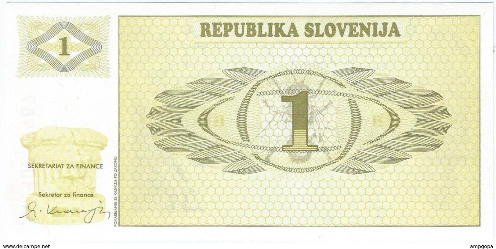 Eslovenia - Slovenia 1 Tolar 1990 SPECIMEN Pick 1s.1 UNC - Slovénie