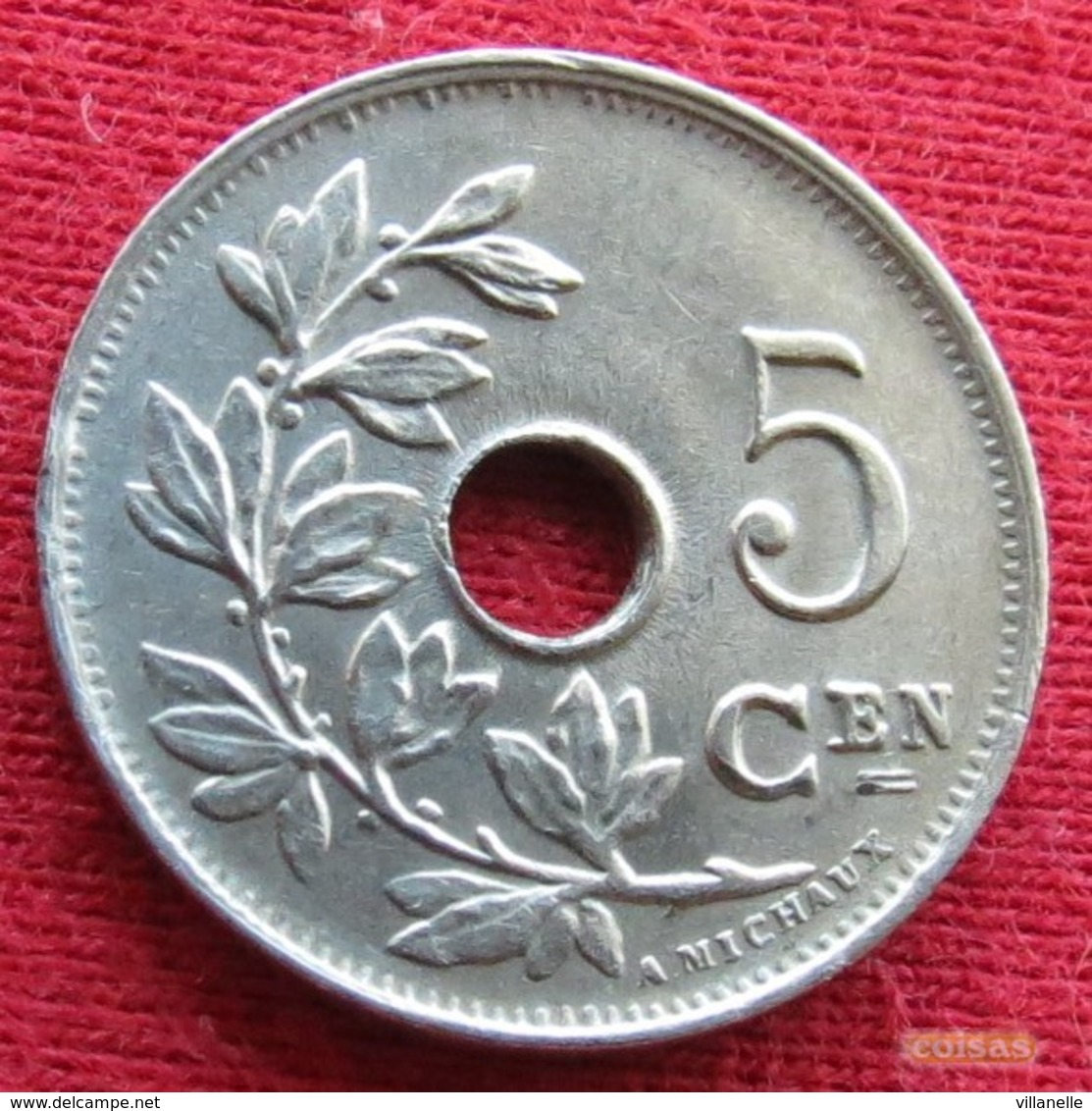 Belgium 5 Centimes 1923 KM# 67  Belgie Belgica Belges Belgique - Belgique