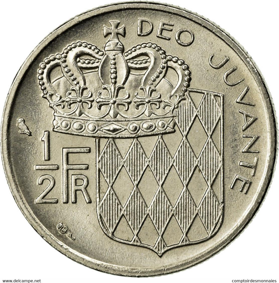 Monnaie, Monaco, Rainier III, 1/2 Franc, 1974, TTB, Nickel, Gadoury:MC 149 - 1960-2001 Nouveaux Francs