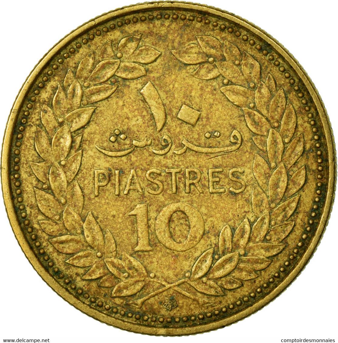 Monnaie, Lebanon, 10 Piastres, 1972, Paris, TB+, Nickel-brass, KM:26 - Liban