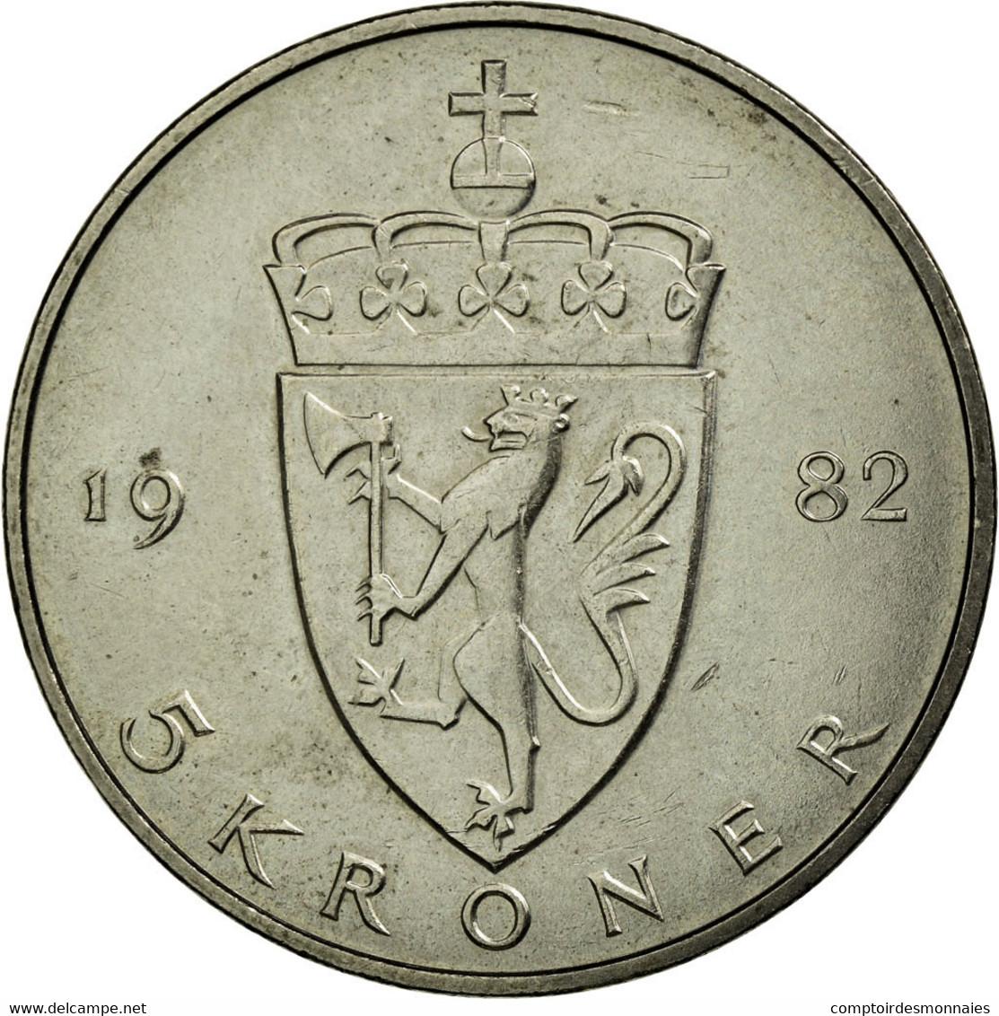 Monnaie, Norvège, Olav V, 5 Kroner, 1982, SUP, Copper-nickel, KM:420 - Norvège