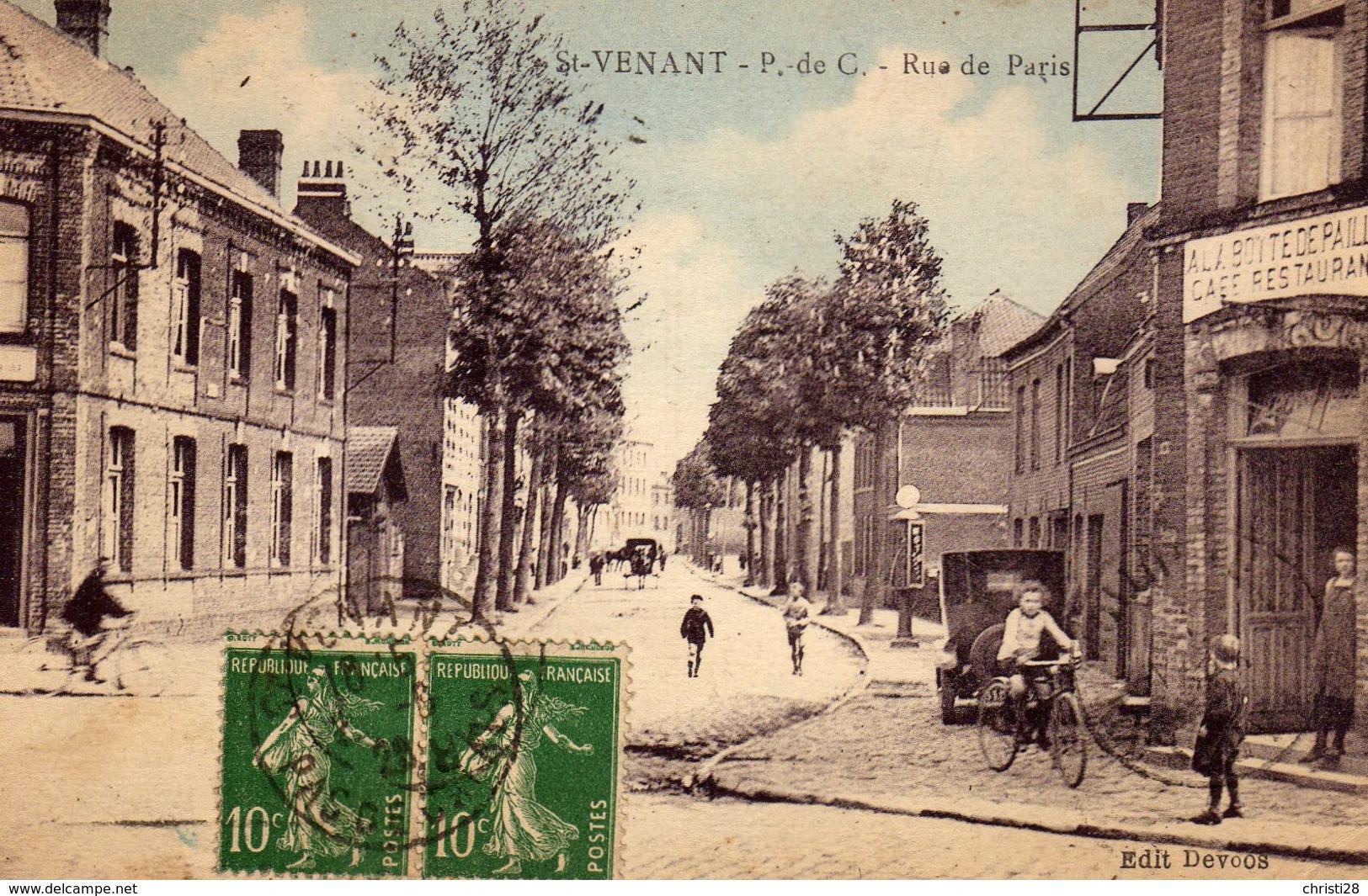 DPT 62 St-Venant Rue De Paris - Autres Communes