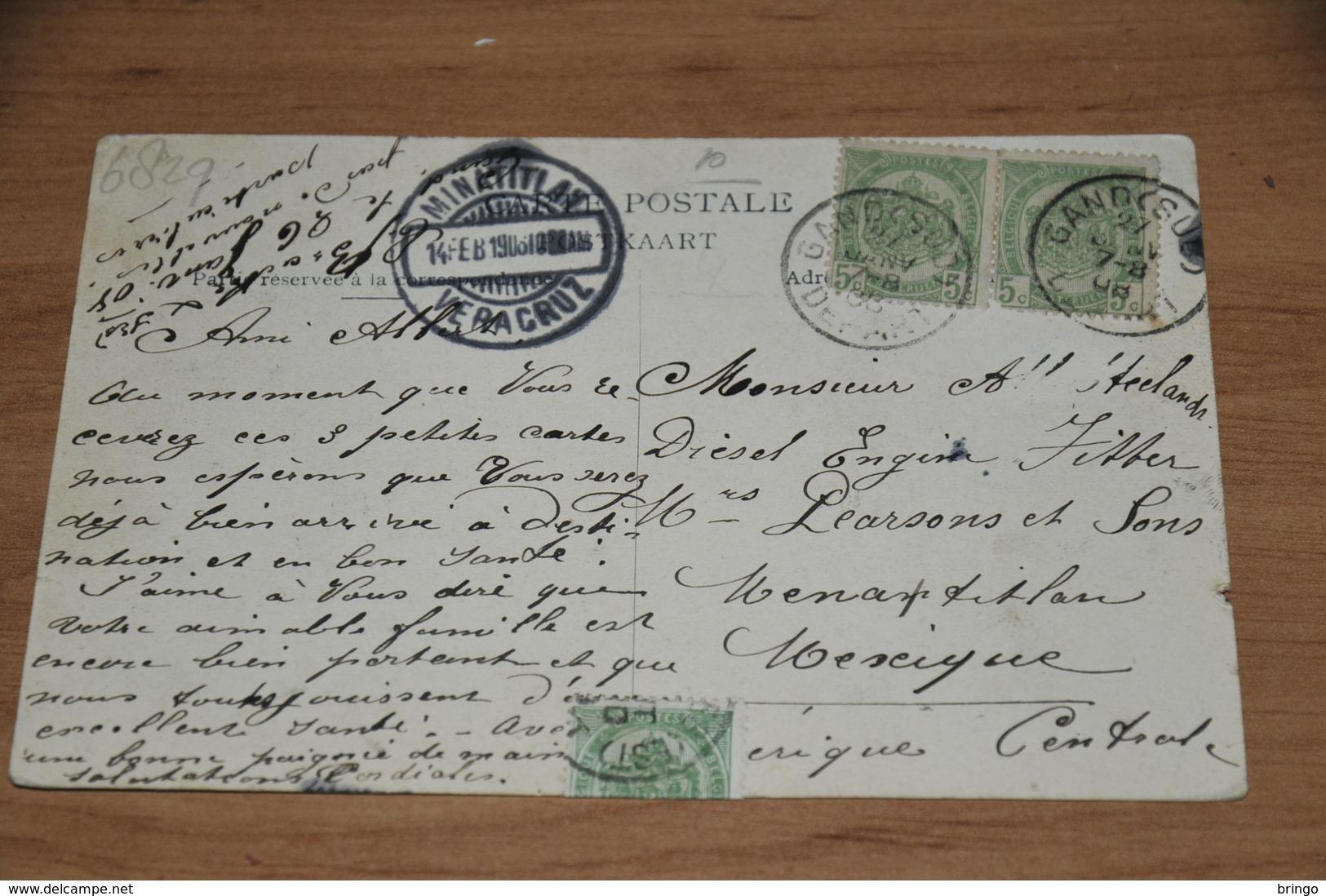 6829-  MASSEZ MEERT, RENAIX NAAR MEXICO - 1908 - Ronse