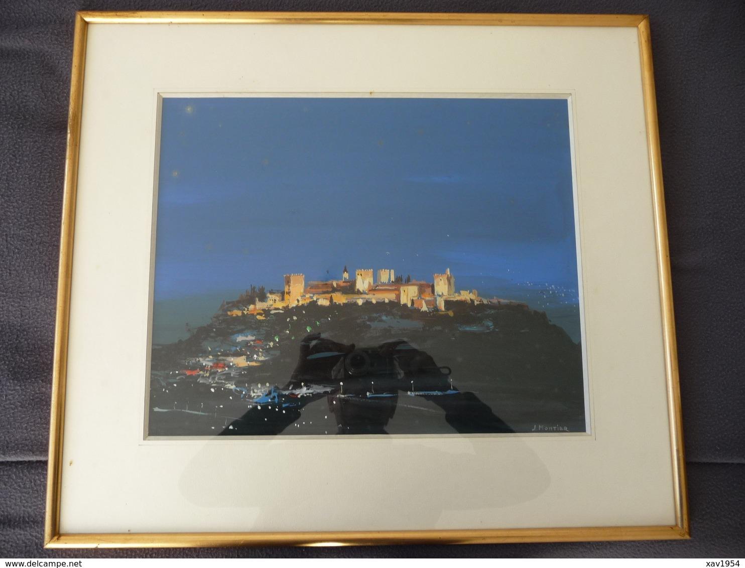 L' ALAMBRA : Oeuvre En Acrylique De L' Architecte & Peintre JEAN MONTIER( 1911/1992) - Acryliques