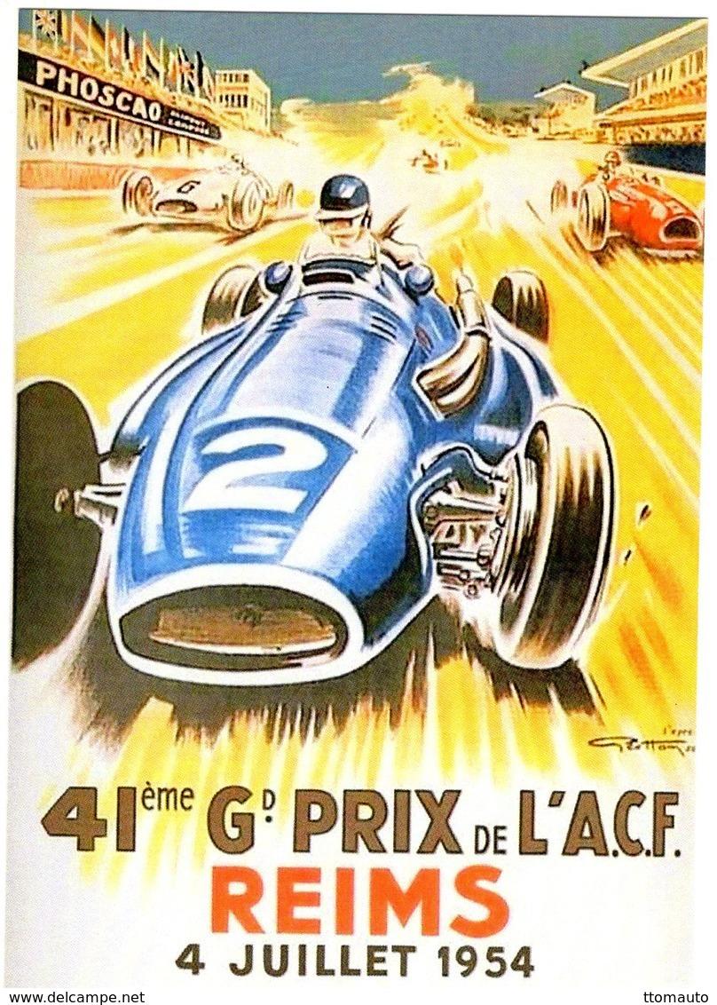 Grand Prix De L'A.C.F.  à Reims 1954  -  (Artwork Geo Ham)   -  Publicité  -  CPR - Grand Prix / F1