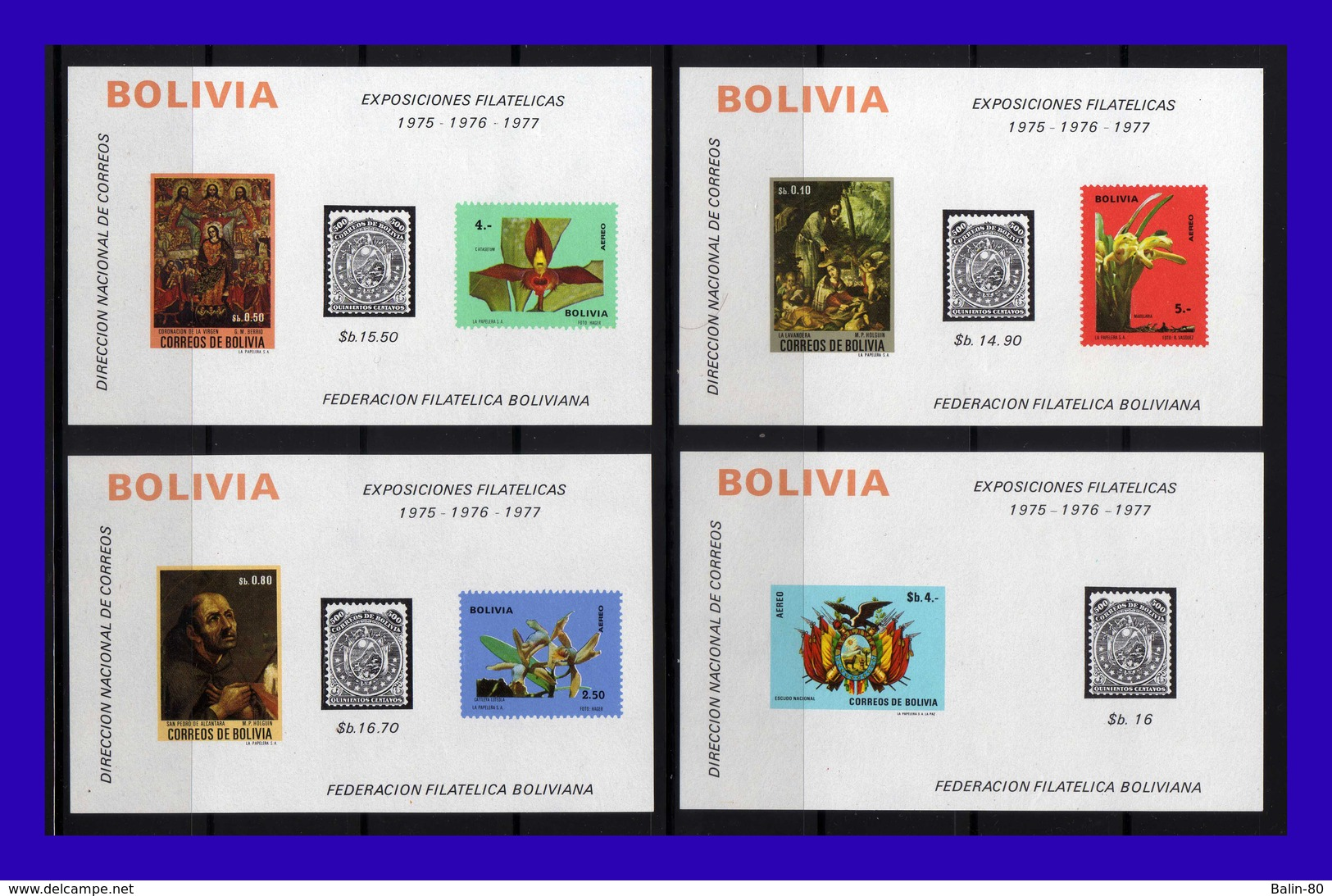 1974 - Bolivia - Yvert H 26 - 29 - MNH - BO-102 - 03 - Bolivia