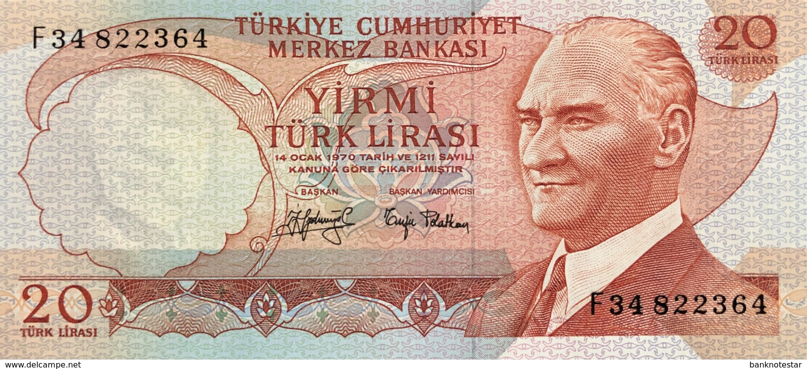 Turkey 20 Lira, P-187a (1976) - UNC - Turquie