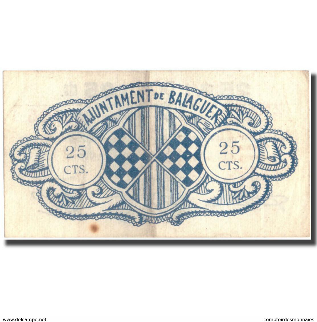 Billet, Espagne, 25 Centimos, Blason, 1937, 1937, TTB - Espagne