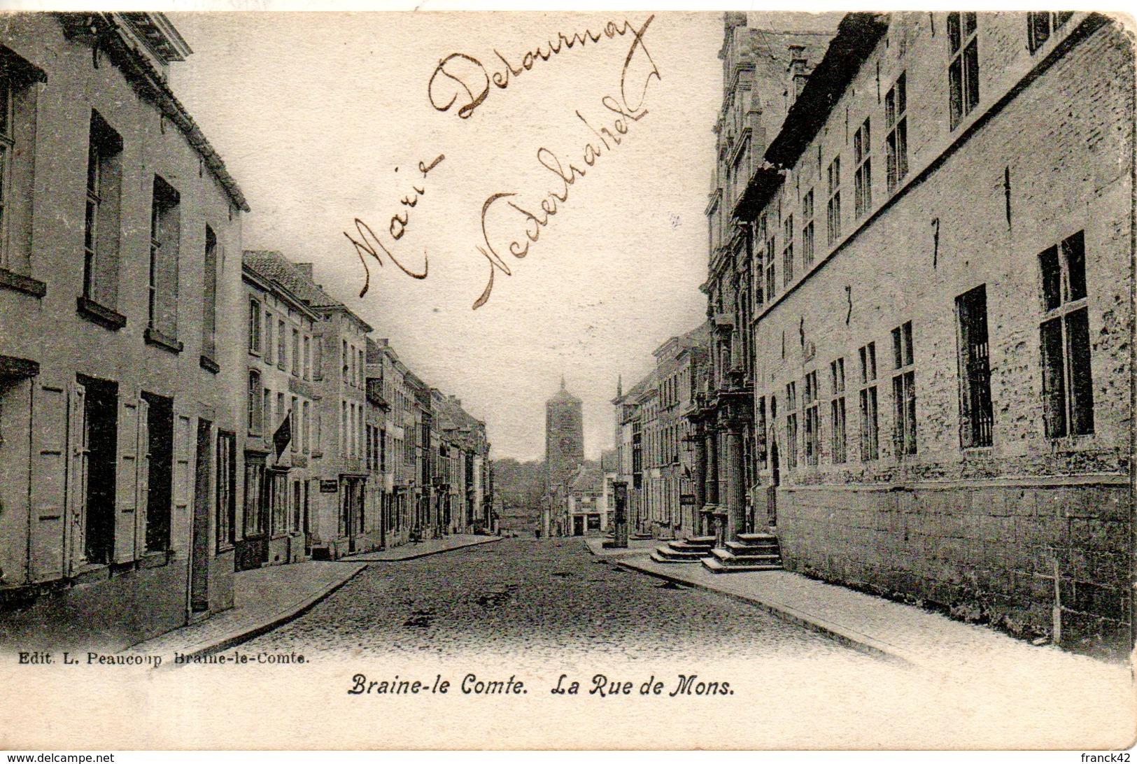 Belgique. Braine Le Comte. Rue De Mons. Coins émoussés - Braine-le-Comte