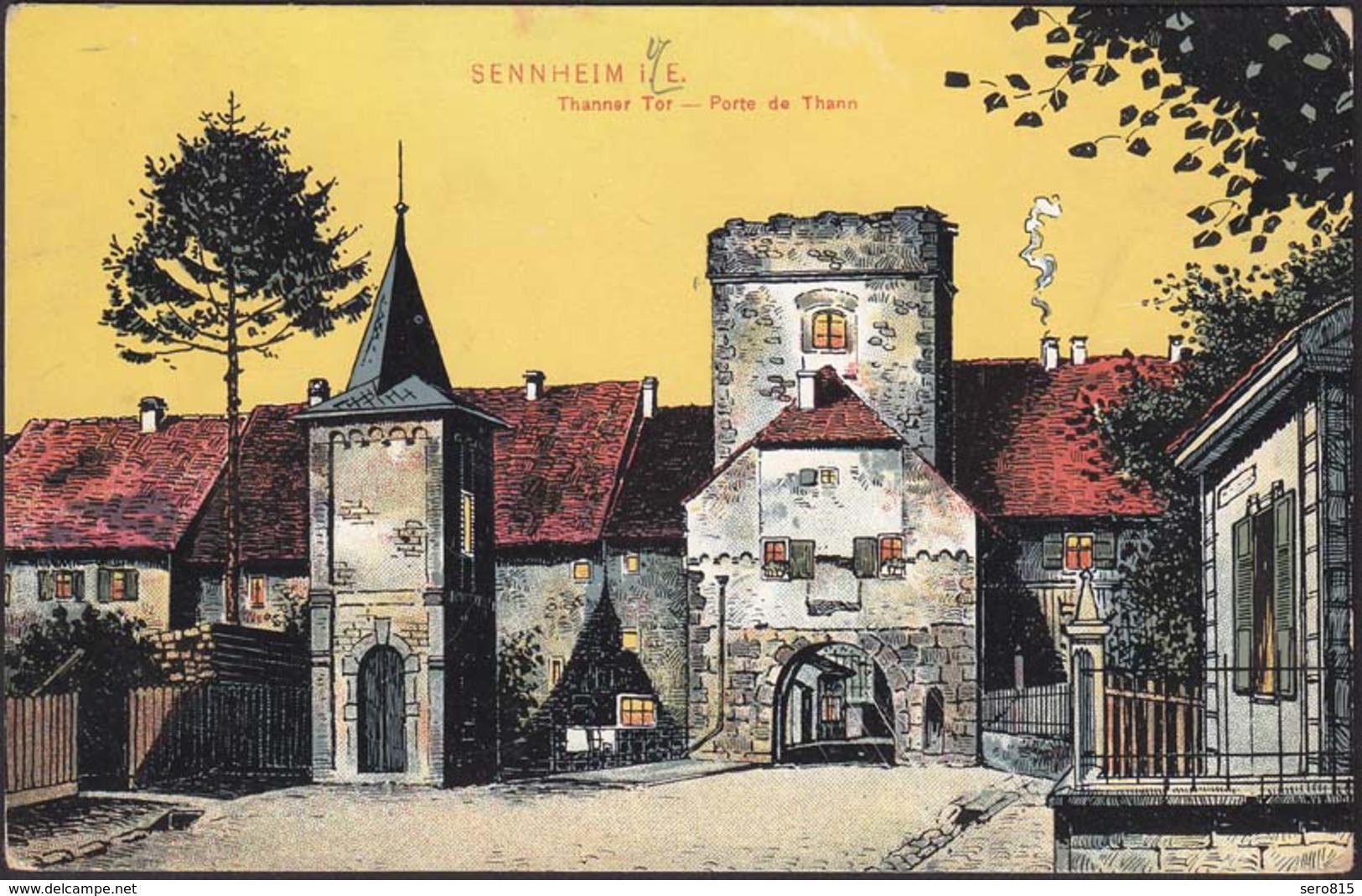 AK Sennheim Elsass Cernay Kunstkarte 1909   (12263 - Elsass