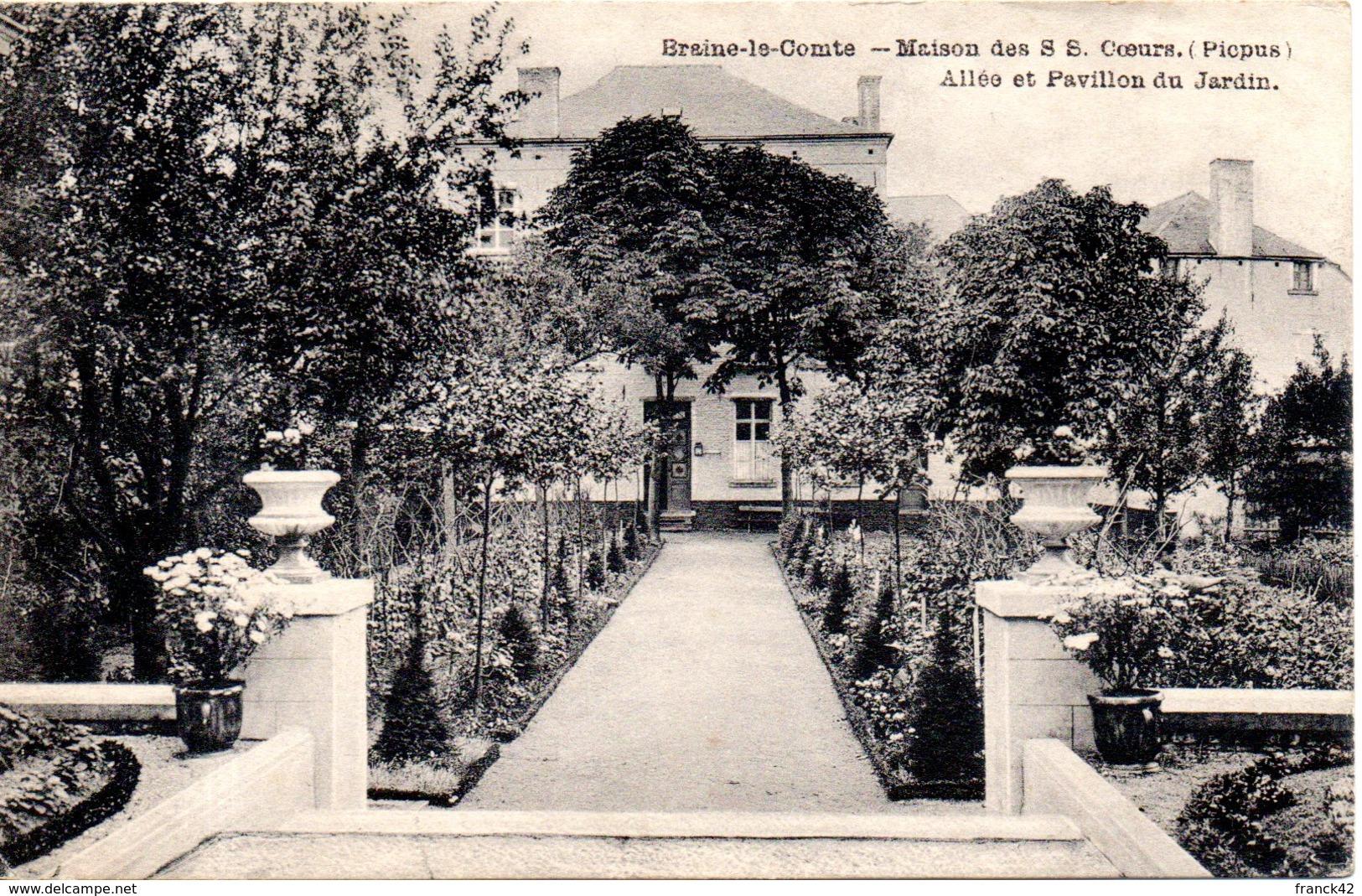 Belgique. Braine Le Comte. Maison Des S.S Coeur (picpus). Allée Et Pavillon Du Jardin - Braine-le-Comte