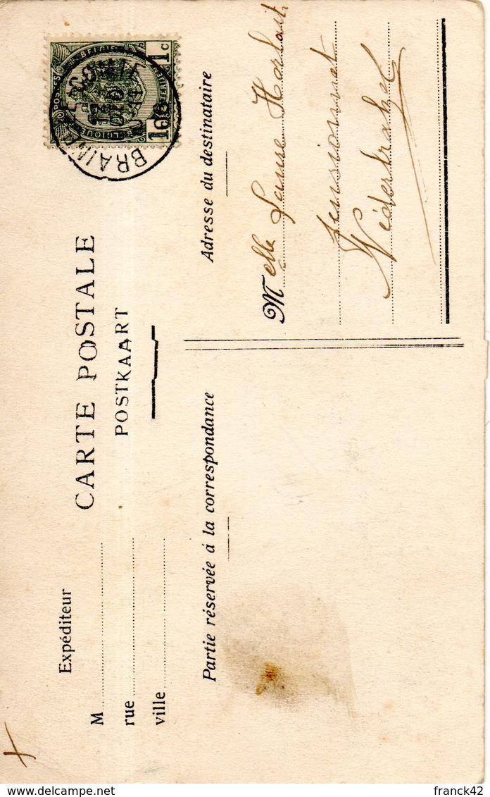 Belgique. Braine Le Comte. Grand'place. Hôtel De Ville Restaurée. Coin Bas Droit Abimé - Braine-le-Comte