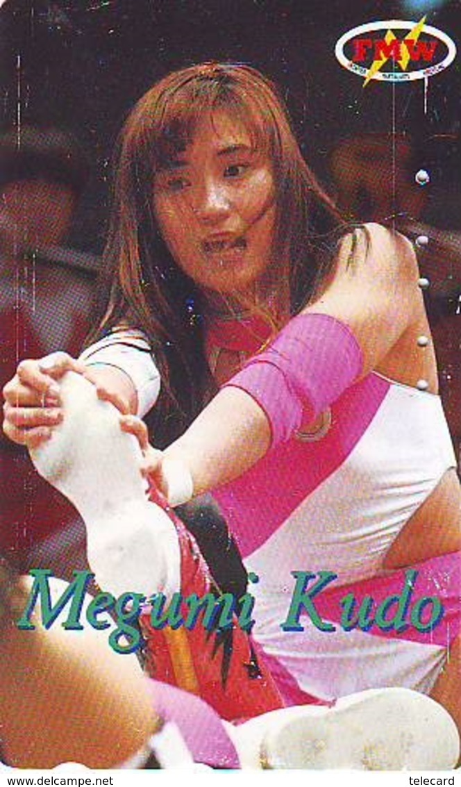 Télécarte  Japon * SUMO * FEMME * MEGUMI * JAPAN (912) LUTTE LUTTEURS WORSTELEN * JUDO * Wrestling LUCHA Phonecard - Sport