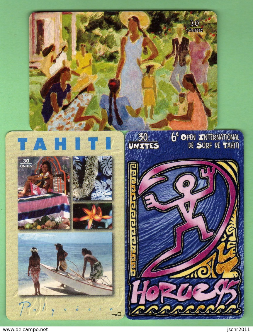 POLYNESIE *** LOT DE 3 TELECARTES *** N°2 *** TTBE *** (A6-P3) - French Polynesia