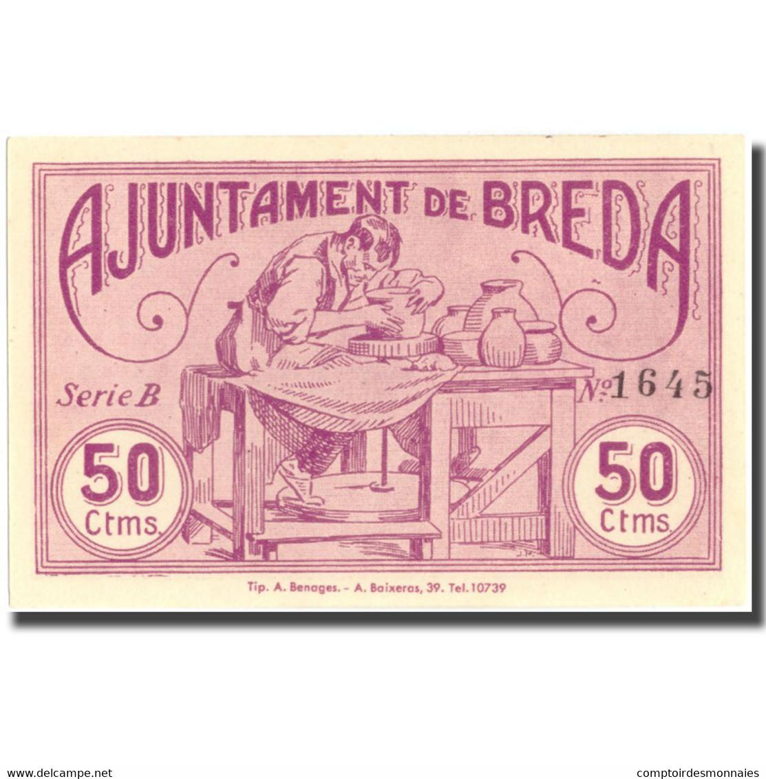 Billet, Espagne, 50 Centimos, N.D, BREDA, 1937-05-11, NEUF - Espagne